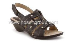 Open toe chunky heel buckle women sandals