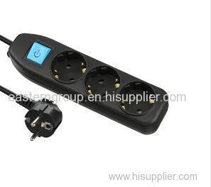 3-проводная электрическая универсальная штепсельная розетка schuko с вольтметром