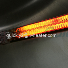 Twin tube carbon IR heater lamp