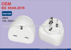 BS certified 10A 250V UK to AUS Plug Adaptor
