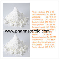 White to Light Yellow Yohimbine hydrochloride CAS:65-19-0 Treating Neurological Disorders