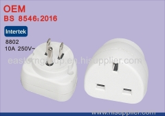Universal EU US AU to UK AC Travel Power Plug Charger Adapter Converter