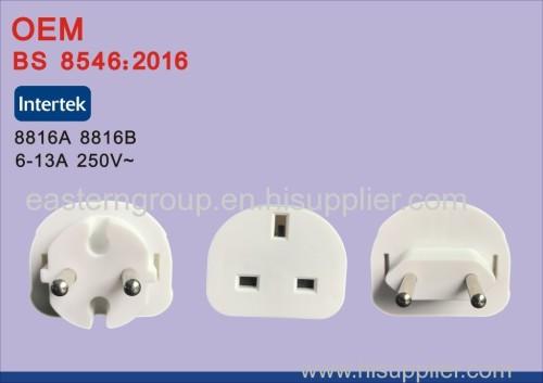 Новый белый универсальный au us uk to eu ac plug plug travel home converter