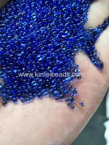 Irreguler colorful Glass beads