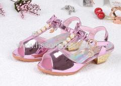 Peep toe sandalias de tacón bajo sandalias