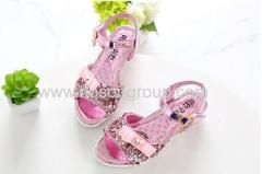 Open toe velcro girls lovely sandals