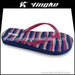 Lightweight women beach flipflop cheap eva slippers wholesale with pvc strap