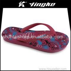 China cheap promotional customize rubber plastic slipper flip flops women