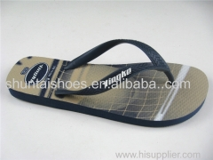 Fashion custom printing summer beach rubber slipper flip flops for men