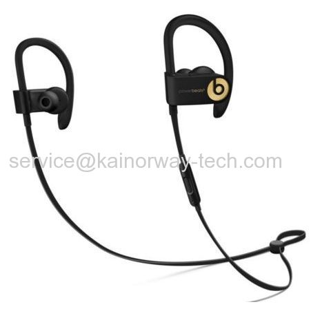 2017 Latest Cheap Beats by Dr.Dre Powerbeats3 Wireless Earbuds Ear-Hook Headphones Trophy Gold Black&Gold
