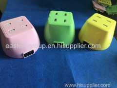 Cargadores portátiles del teléfono del usb cargador universal de la pared del zócalo del USB del múltiplo 5V 7.8A