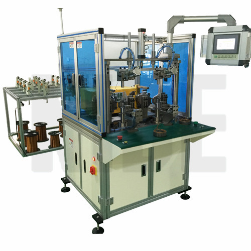 Electric balancer coil winding machine for wheel motor for Electric motor winding machine