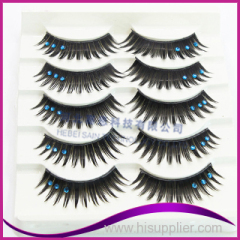 New fashion diamond synthetic fiber eyelashes