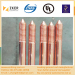 copper bonded steel threaded and tipped grounding rod