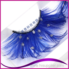 False eyelash colorful feather gorgeous crazy style lashes