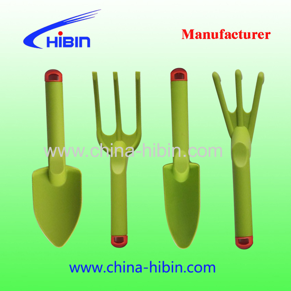 4Pcs Gardening Yard Hand Plastic Garden Trowel Shovel Spade Rake Tool Set