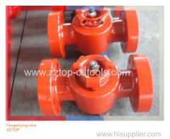 "2"" x 10000psi Wellhead Flanged Plug Valve for oilfield cementing"