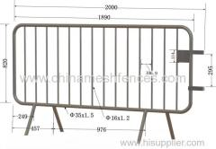 Crowd Control Barricade Fully Hot Dipped Galvanized