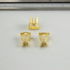 Small brass metal stamping part for electronic appliance