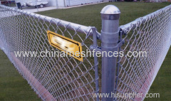 6ft Galvanized Chain Link Fence with Extension Arms