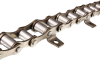 Short Pitch Stainless Steel Conveyor Chain With Attachments