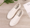 White canvas lace casual shoes