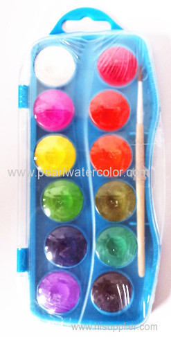 Solid Paint Watercolor 12 Colors Box