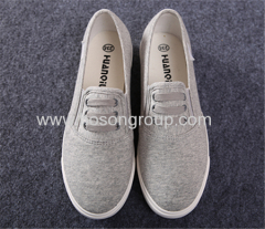 Clip on canvas lady casual shoes