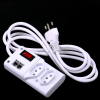 220v extension cord socket outlet 2Gang with 2 RJ45 Port