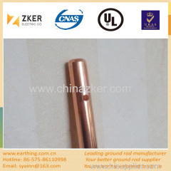 copper clad earth rod with hole