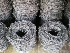 Supply galvanized barbed wire/PVC coated barbed wire per meter length/barbed wire roll price fence