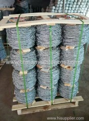 PVC coated barbed wire length per roll barbed wire roll price fence