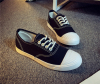Round toe lace canvas shoes