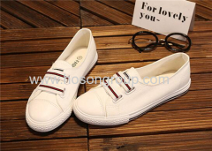 Casual canvas lady flat shoes