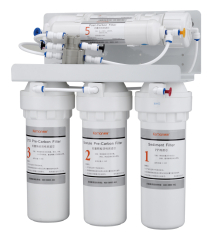 new economical undersink 5 stage water filtration without power