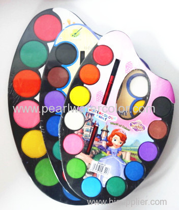 12 colors Solid Watercolor paint set
