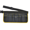 black and yellow tool apron