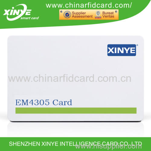 hot sale 125khz EM4305 smart card