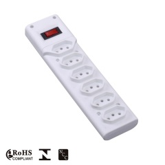 2.1A USB Universal Power Strip with Switch