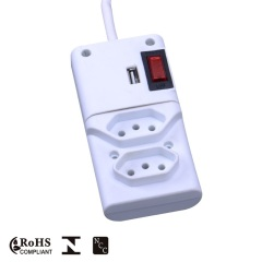 USB Charger Extension Power Socket 2 Way