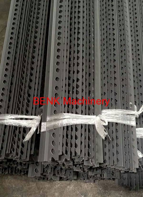 BENK's sales successfully help installed PVC profile extrusion line for corner bead in client factory.