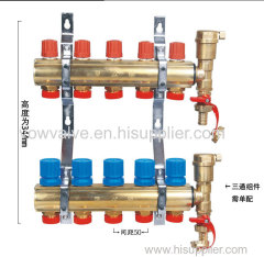 Brass Manifold for underfloor heating system