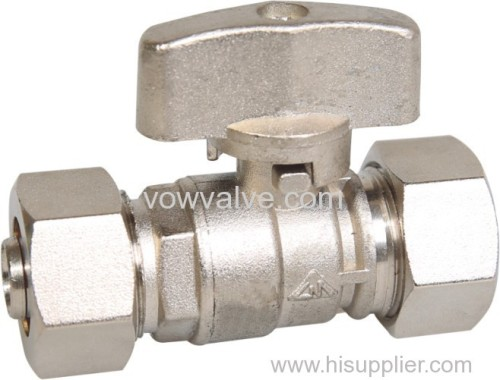 brass valve compression fitting for water system