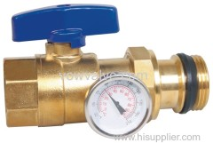 brass ball valve for underfloor heating system