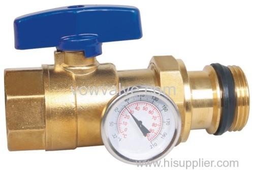 brass ball valve for underfloor heating system