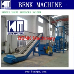 waste plastic PE/PP film single shaft shredder machine