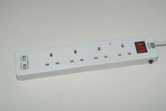 UK extension socket UK power strip 4 Way with Switch