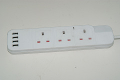 Factory Wholesale OEM/ODM UK Standard 5 Outlet Power Strip with Individual Switch