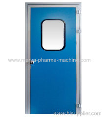 Melamine resin purification door
