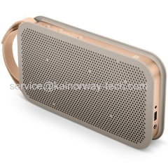 New B&O Play BeoPlay A2 Portable Active Bluetooth Powerful Stereo Speakers Grey For iPhone iPod iPad